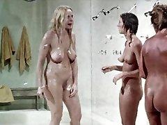 Shower scene from.  Prison Girls,  vintage