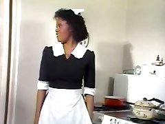 Black Maid Jeannie Gets Vintage Cock