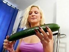The cucumber always goes very first