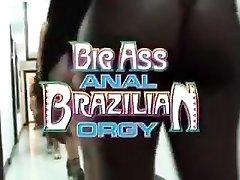 巴西人的荡妇有一个铁杆的肛门的狂欢