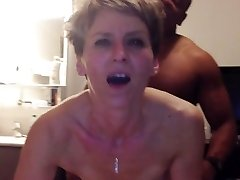 Cougar has anal ejaculation from youthfull black cock