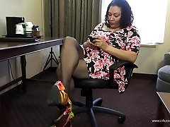 After Work Stockings Shoeplay