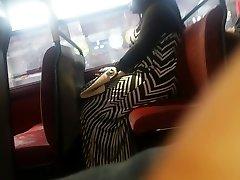 Monstrous Booty Zebra Dress Candid Pt 2.