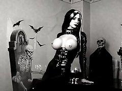 Black Latex Gothic Lady
