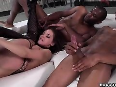 Russian babe Henessy deepthroating 3 black strong penis