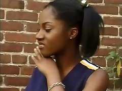 Cute Ebony Cheerleader
