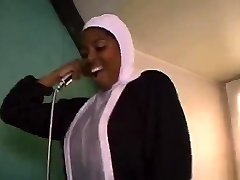 African French nun sucking and tearing up good-sized black cocks