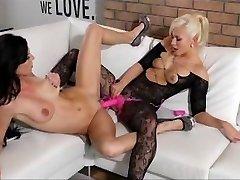 StrapOn - Amazing blonde babe fucks her GF