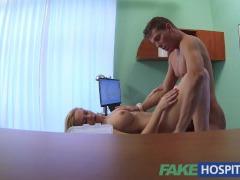 FakeHospital Splendid blonde MILF feeds then fucks doctor on desk