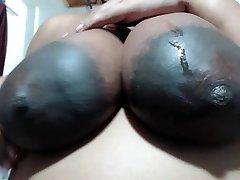 HUGE AREOLAS Idian Gal likes MY N-gg-r Balls