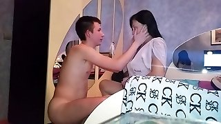 Russian mature mummy suck her boy
