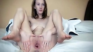 Melissa spreads her pussy wide open