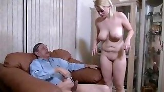 Oldman and Hot Blondie