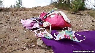 Teen cutie gets penetrated outdoors