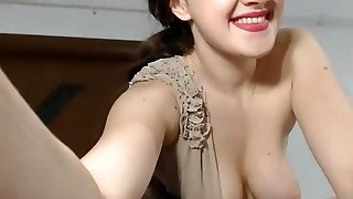 Girl nice tits get ejaculation with tips