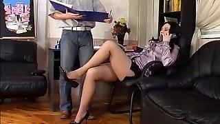 Feet Wank in the office