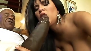 Busty mexican Milf first anal monster