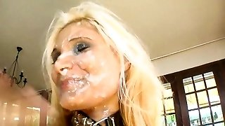 Blonde Mass Ejaculation Wreckage