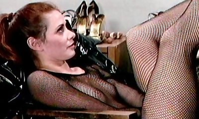 Latex boots fetish babes having joy