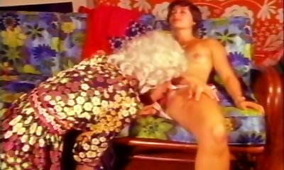 Dude In Wig Sucked By Cute Dark Haired Wifey