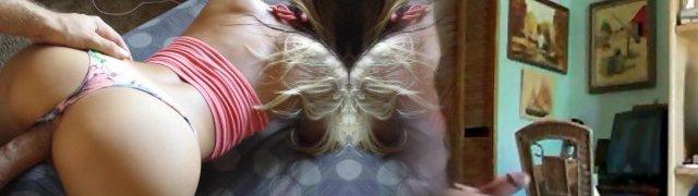 Super-steamy Blonde GF Doggy POV