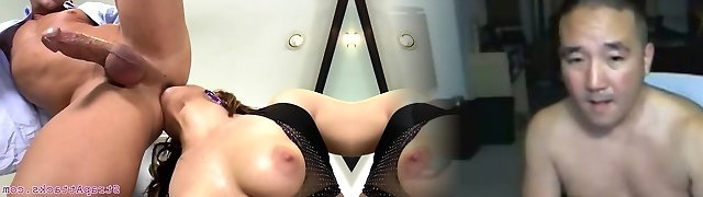Busty prodomme pegging and asslicking subs backside