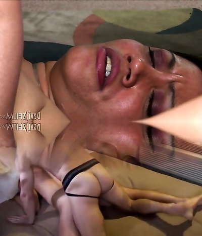 Humungous granny gives a head and gets poked hard missionary style