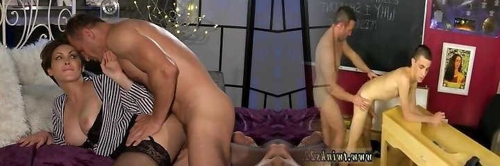 MOM Office chick in stockings wants rock firm penis deep inside her