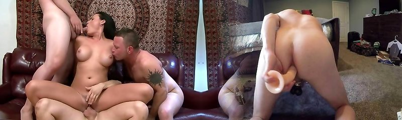 Sexy adult movie star Ashli Ames in hottest facial, mature sex movie