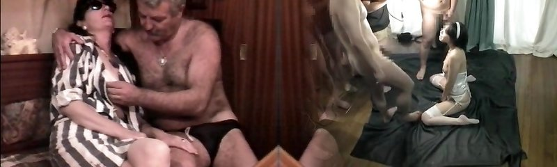 Antique French sex video with a mature fur covered couple