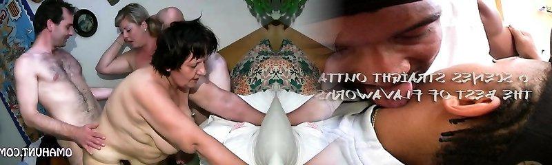 Mischievous mummy loves lesbian fun in bed