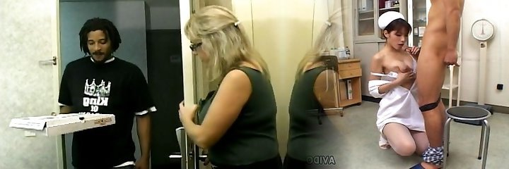 Mature with glasses gets her vagina screwed