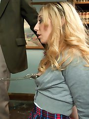 Emma Haize is a disrespectful student and her professor Sarah Vandella does not know how to handle her correctly.  She calls in the dean, Steve Holmes, who resorts to some old but effective correctional tactics.  He then punishes and fucks both girls in bondage as a way to improve relations.