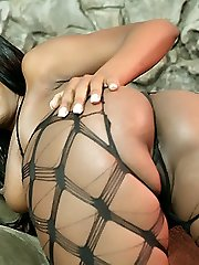 Black hottie Lady Armani gives her guy a taste of her delicious blowjob and got herself gooed and plowed