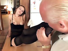 Slutty lady Melissa Julianna meets up with her sugardaddy and got her pussy slurped and her feet worshipped