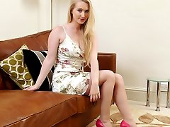 Toni's lovely pointed high heel shoes are always a great attraction for highly sexed men! She loves the feel when her feet are in high heels, and since you are so sexually sensitive about high heel shoes you will probably feel some of the sensation with her