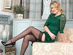 Vanessa mixes a classy 30s frock with an inspired choice of lingerie and hosiery!