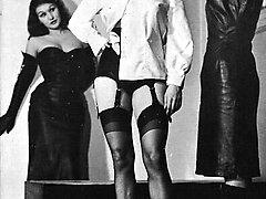 A vintage spanking session