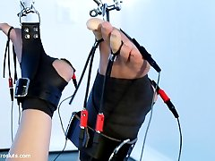 Episode 4: The time has come, the final episode with the anally amazing and magical Roxy Raye. Goddess Aiden Starr has had her fun play with her cute and tough electro-lover; however, now is the time that Roxy needs to prove herself worthy to her lezdom if she is to ever be on my list of Electroslut! Simple bondage leaving room for tough electricity and electrosex leading into an inverted suspension. See if Roxy has what it takes for Lesbian BDSM the way her body is build for a good, strong and huge anal fucking!