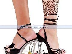 Footfetish - Footjobs in Nylons, Pantyhose and Heels