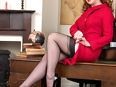 Red, leader of the Nylons Party, stands for sexy hosiery and designer heels for all women, and...