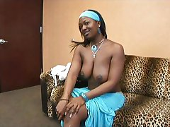 Chocolate babe loves cock more and more