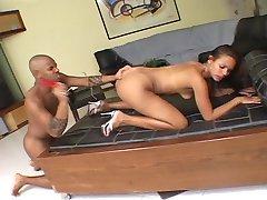 Ebony couple with a creamy finish