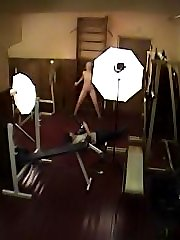 Amazing gym voyeur clips of adult shooting