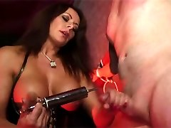 Mistress Carly jerks her submissive gimps cock nice and hard because she wants a big and messy...
