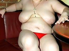 Dana039s hot red panties are not easily hidden by her sheer tight pants. quotWhy bother keeping...