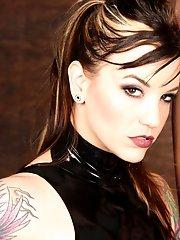 Sexy femdom Domina Athena dominates with brutal CBT