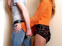 Kinky guy craving to taste babe�s strap-on before wild ass-splitting action
