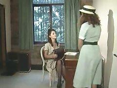 Lesbian headmistress and her naughty girls