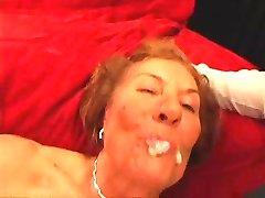 Horny GILF Double Teamed & Creamed